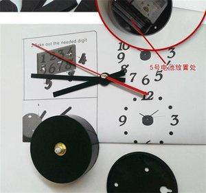 Цифровые часы Mute батареи настенные часы DIY Творческое Украсить Главная Гостиная Supplies Circular Single Side Hot Sales 15nsC1