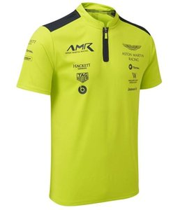 WEC Aston Martin-Team 2019 Kurzarm Poloshirt Revers T-Shirt Racing Suit Dark Green