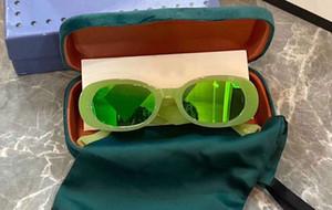 0517 fluorescent au néon vert perle ovale Slim Lunettes de soleil 0517S unisexe mode Ovale Lunettes Lunettes de soleil Shades nouveau avec la boîte
