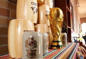 2018 Copa del Mundo de Rusia trofeo Modelo de oro llenas 36cm tamaño Resina artesanía del ventilador recuerdo Campeón de Francia de fútbol trofeo