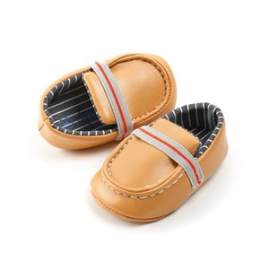 Newborn Baby Shoes Infant PU Leather Baby Boys Shoes First Walkers Prewalkers Kids Crib Boy 2020