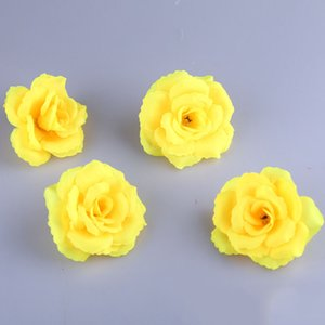 ЭКО-дружественный 8 см искусственный шелк роза цветок Глава для свадьбы украшения дома оптовик 15 цветов можно выбрать белый красный розовый