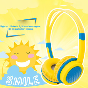 85dB cortes crianças sobre orelhas fones de ouvido com fio com segurança fones de infantis fones de ouvido ajustável computador tablet criança envelhecido 4-12 fones de ouvido