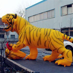 Géant gonflable Tigre ballon gonflable Cartoon fabricant de modèle mascotte tigre géant gonflable sur mesure pour la publicité Gonflables