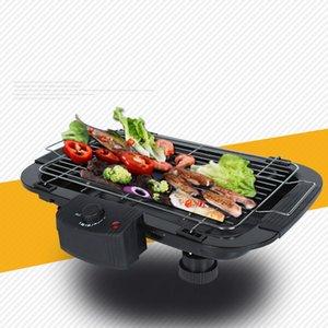 Multi-fonctions Grills électriques Accueil Baking Pan Smokeless Barbecue électrique Teppanyaki Griddles 220 V intérieur machine BBQ