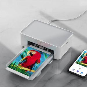 100-240V Impresora fotográfica portátil en color HD 6 pulgadas Sublimación Airprint Wifi Conexión inalámbrica Bluetooth 300x300 ppp 1 cinta 124.6 x 194 x 83,6 mm