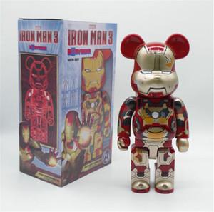 HOT 400% 28CM The Avengers Film Bearbrick fer chiffres ours homme jouets pour les collectionneurs Be @ rbrick jouets décoration modèle travail Art cadeau