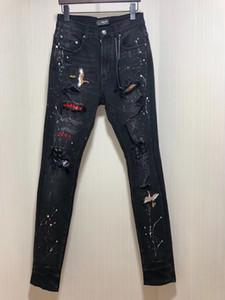 Mens 2019 otoño nueva moda para hombre de la grúa de diseño bordado pantalones vaqueros del tamaño alta calidad china ~ jeans ajustados tops de los hombres s de diseño