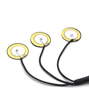 Kalimba-MUSIC uç pimi jak ile 10pcs Piezo İletişim Mikrofon 3 Dönüştürücü Pickups