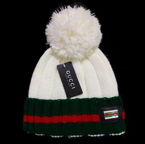 Diseñador de moda Unisex Primavera Invierno Sombreros para hombres mujeres Beanie de punto Sombrero de lana Hombre Bonnet de punto Polo Beanie Gorros touca Thicken Warm Cap