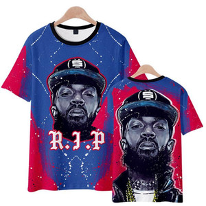Hussle T-shirt des hommes d'été Vêtements 3D T-shirts manches courtes Hauts-américain Rapper Nipsey