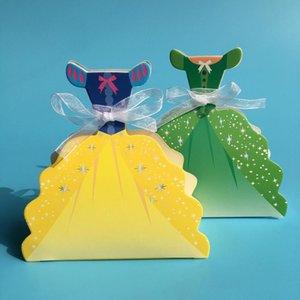 Battesimo Candy Box Baby Girl Scatole di favore e borse piccole confezioni regalo per i favori di partito imballaggi di carta 25pcs Box Regalo Bimbi
