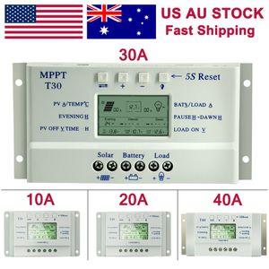 وحدة تحكم المسؤول الشمسية تحسين المنزل MPP 10 20 30A 40A 12V البطارية / 24V السيارات منظم شاحن LCD مزدوجة IMER تحكم T10 T20 T30 T40