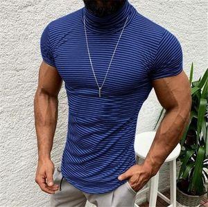 Sleeve Mens Tess 20ss New Man Tops Mens Summer Stripe Designer Tshirts Casual High Neck Short