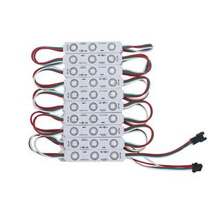 WS 2811 حقن IC بقيادة وحدة بكسل ضوء لتوقيع خطابات الشاشة SMD 5050 RGB حلم اللون DC12V للماء WS2811 نقطة عنونة ضوء