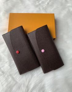 Atacado retro senhoras clássicas longo carteira caso couro multicolor carteira cor cartão senhoras bolso de moedas clássico zipper padrão wal