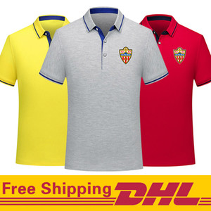 Free DHL Shipping ud almeria soccer Polo Shirt men Short Sleeve polos training Football T-Shirt Jersey can be mixed batch Men's Polos