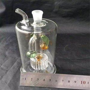 narguilé de noix de coco verte Accessoires Bangs, verre d'huile unique brûleur Bangs Pipes eau en verre Tuyau d'huile Rigs fumeurs avec Dropper