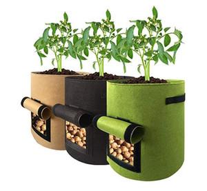 Pianta in tessuto non tessuto Borsa per coltivazione di patate Riutilizzabile Verdure altamente traspiranti Coltivazione in vaso Borsa per piantare fiori Fioriera 5/7/10 Gallone di grandi dimensioni