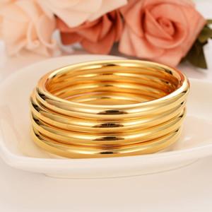 Cuatro piezas CONJUNTOS Moda al por mayor Dubai Glaze Bangle Jewelry 18 K Fine Yellow Gold Filled Dubai Pulsera