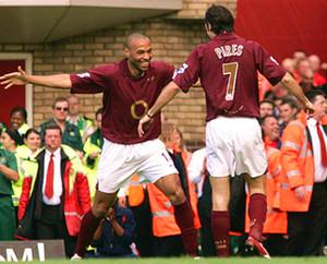 2005 2006 Gunner Retro Fútbol Highbury 05 06 14 Thierry Henry # Bergkamp clásico Camisa Patrick Vieira camisas del fútbol