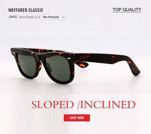 2020 Vintage Uomini Occhiali da sole Donne Donne Designer Retro Quadrato Incinta in vetro inclinato inclinato occhiali da sole UV400 SLANTED 50mm 54mm Size Oculos de Sol Gafas
