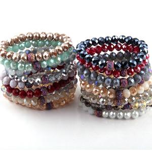 Braccialetti energetici fatti moda bella 10 millimetri casuale mix colore braccialetto di vetro 10pc colore diverso / lotto