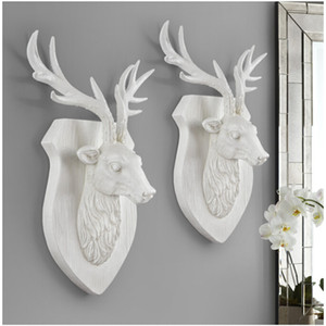 Animal Deer Head Elephant Hanging stereo creativa Soggiorno murale della casa della parete ganci parete di fondo della decorazione
