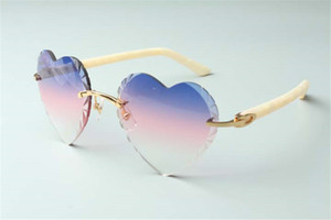 Best-selling Direct sales high-quality new heart shaped cutting lens sunglasses 8300687, aztec legs temples size: 58-18-135 mm