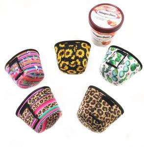 Неопреновый чехол для мороженого с леопардовым принтом Подсолнух может Охладить Чехлы Кактус Лолли Сумки Мороженое Держатель Case Инструменты GGA2245