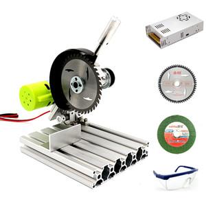 Table miniature en aluminium Scie Scie Machine de découpe de haute précision Modèle de bricolage Scie Scies de précision Chaineau de menuiserie