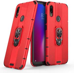 Pour Xiaomi Redmi Note 7 Étui Anneau Boucle De Couverture Robuste Combo Hybrid Armure Couverture De Protection Pour Xiaomi Redmi Note 7