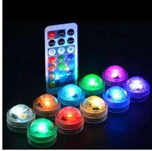 Waterproof LED Aquarium Light 1Pcs Remote Controller Round Shaped Fish Tank Decoration Candle Lamp Plastic Colorful