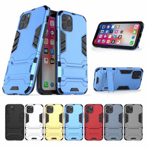 Fer cas de téléphone d'armure pour Iphone 11 11Pro 11 Pro MAX Xiaomi Mi CC9 CC9e A3 redmi 7 Note 7 téléphone TPU + PC cas avec samsung 10 note Béquille