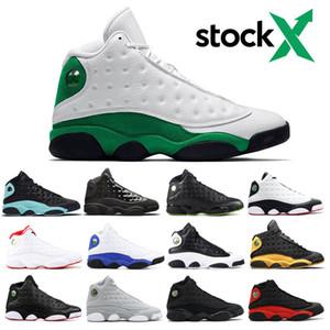 13 повез зеленый Altitude черного кота воспитанной Любви Уважайте шапочку и мантия 13s Мужчины баскетбол обувь Hyper Royal Фантом спорт кроссовки