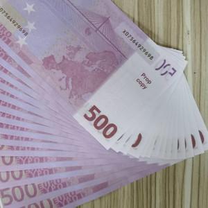 Евро Поддельные деньги Банкноты Prop Деньги Бумага 200 500 Euro Bills Цена банкнота Бизнес подарки Поддельный Бумажные деньги для коллекции 01