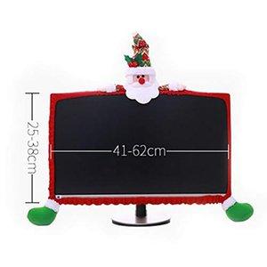 Noel Bilgisayar Monitörü Kapak Home Office Hediye Noel süslemeler Sevimli Claus Dekorasyon
