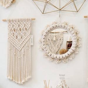 Spiegel Böhmen-Art Kreative Wandbehang Spiegel Wohnkultur Mode Modern Art Dekoration Eitelkeit Make-up-Spiegel-Finish für Schlafzimmer Badezimmer