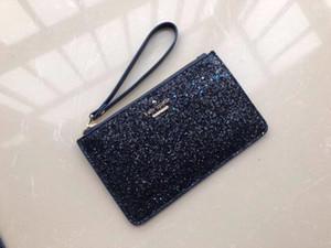 diseñador de la marca de lujo de los bolsos de embrague de los mitones de Navidad estrellas brillantes carteras brillo chispa los titulares de tarjetas monederos para las mujeres 5 colores