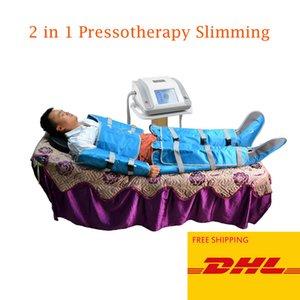 2 dans 1 'infrarouge lointain corps de pressothérapie lumière pression d'air enveloppement sauna couverture équipement de spa drainage lymphatique désintoxication minceur