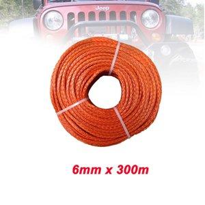 6mm x 300 metros 12 trenza línea de cuerda cabrestante UHMWPE sintética