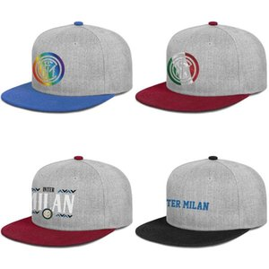 Inter de Milán texto Nerazzurri La Beneamata Para los hombres y mujeres de borde plana gorro de béisbol ajustable del casquillo diseño de moda sombreros lindos etiqueta