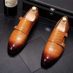 Designer Shoes Casual cintura di lusso degli uomini di High Street fibbia commerciali Scarpe scarpe dello sposo degli uomini di fannulloni fumatori pantofole 293