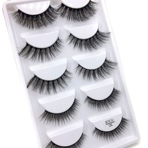 mélanger un f Hot Mix 6 style Multipack Faux Cils 3D doux Vison Cils Wispy longs cils Faux Maquillage des yeux naturels Faux Cils 100set
