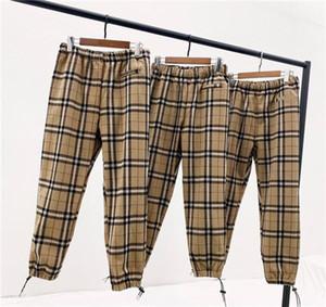 Nueva llegada marcas de lujo diseñan BBR cuerdas de tela escocesa pista cintura elástica pantalones de deporte de los hombres pantalones de las mujeres del ganso del basculador del pantalón exterior