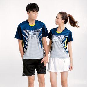 Ano Autumn manga curta Badminton Sirva Suit amantes Fundo Movimento Tênis Pantskirt Training Jersey