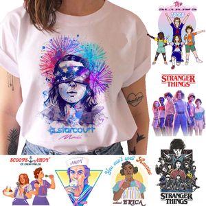 Stranger cose strane storia a maniche corte strana storia di 3 loo 3 casuale allentata superiore Stranger Things T-shirt da donna T-shirt a maniche corte delle donne