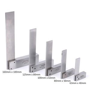 Los gobernantes 1pc Regla maquinista Square 90 Ingeniero Grado de ángulo recto de precisión tierra endurecida de regla de acero ángulo Medir herramientas