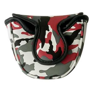 التمويه Golf Club Putter Headcover - Waterproof Golf Malet Head Cover Center Center Guard - Universal Fit