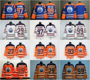 Noticias Edmonton Oilers 97 Jersey Connor McDavid 99 Wayne Gretzky 29 Leon Draisaitl 27 Milan Lucic 93 Jerseys de hockey Ryan Nugent-Hopkins